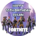 Personalised Edible Fortnite Cake Topper